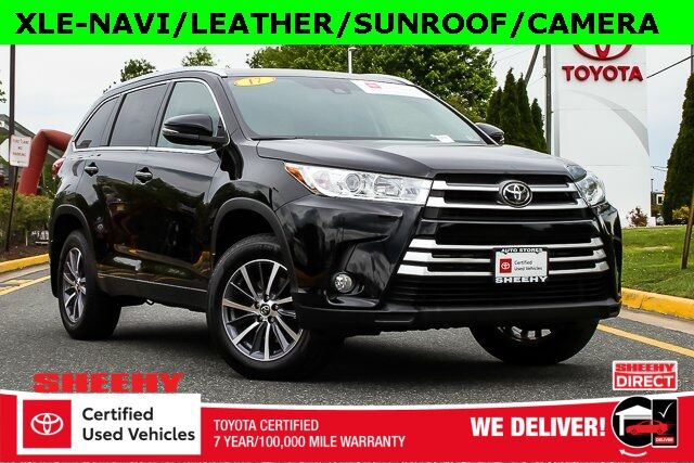 2017 Toyota Highlander XLE NAVI LEATHER SUNROOF CAMERA Stafford VA