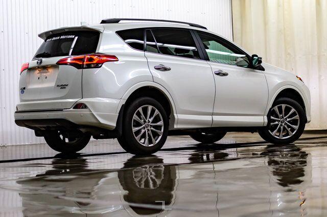 2017 Toyota RAV4 AWD Platinum Leather Roof Nav BCam Red Deer AB