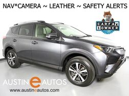 2017_Toyota_RAV4 XLE_*NAVIGATION, PRE-COLLISION SYSTEM, LANE DEPARTURE ALERT, BACKUP-CAMERA, ADAPTIVE CRUISE, LEATHER, MOONROOF, KEYLESS START, POWER LIFTGATE, BLUETOOTH_ Round Rock TX