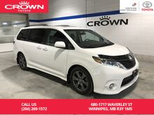 2017_Toyota_Sienna_SE 8-Pass FWD Tech Pkg / Lease Return / Local / Clean Carproof / Immaculate Condition / Wide Screen DVD Player_ Winnipeg MB