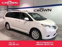 2017_Toyota_Sienna_XLE Limited AWD / Lease Return / Low Kms / Local_ Winnipeg MB