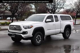 2017_Toyota_Tacoma TRD SPORT 4x4 with Camper Shell_Premium & Tech Pkg with Blind Spot/ Tow Pkg_ Fremont CA
