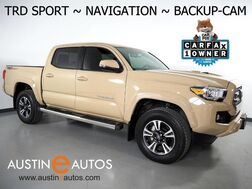 2017_Toyota_Tacoma TRD Sport Double Cab V6_*NAVIGATION, BACKUP-CAMERA, TOUCH SCREEN, KEYLESS ENTRY w/PUSH BUTTON START/STOP, SIDE STEPS, BED LINER, TOW PKG, BLUETOOTH_ Round Rock TX