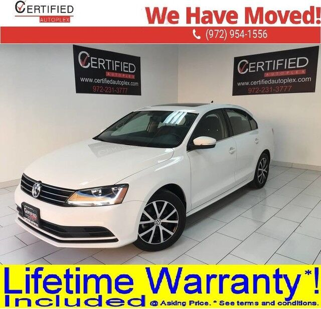 2017 Volkswagen Jetta 1.4T SE SUNROOF REAR CAMERA BLIND SPOT ASSIST HEATED LEATHER SEATS SMART PH Dallas TX