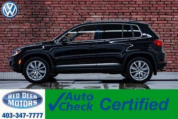 2017_Volkswagen_Tiguan_4Motion Comfortline Leather Roof BCam_ Red Deer AB