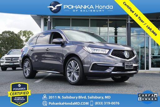 2018_Acura_MDX_3.5L SH-AWD/TecH * Pohanka Certified 10 Year / 100,000_ Salisbury MD