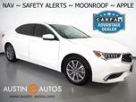2018 Acura TLX w/Technology Pkg *NAVIGATION, BLIND SPOT ALERT, COLLISION ALERT w/BRAKING, ADAPTIVE CRUISE, BACKUP-CAMERA, LEATHER, MOONROOF, HEATED SEATS, BLUETOOTH, APPLE CARPLAY