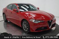 Alfa Romeo Giulia NAV,CAM,PANO,PARK ASST,18IN WLS,HID LIGHTS 2018