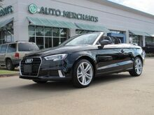 2018_Audi_A3_2.0 TFSI Premium Cabriolet LEATHER, NAVIGATION, HTD FRONT STS, KEYLESS START, UNDER FACTORY WARRANTY_ Plano TX
