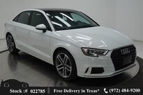 Audi A3 2.0T Premium CAM,PANO,HTD STS,18IN WLS,HID LIGHTS 2018