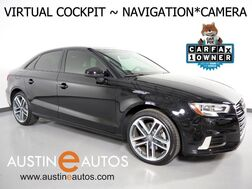 2018_Audi_A3 2.0T Tech Premium_*VIRTUAL COCKPIT, NAVIGATION, BACKUP-CAMERA, AUDI PRE-SENSE, PANORAMA MOONROOF, LEATHER, HEATED SEATS, ADVANCED KEY, BLUETOOTH_ Round Rock TX
