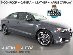 2018_Audi_A3 Sedan 2.0T Premium_*BACKUP-CAMERA, OVERSIZED MOONROOF, LEATHER, HEATED SEATS, ADVANCED KEY, ALLOY WHEELS, BLUETOOTH, APPLE CARPLAY_ Round Rock TX