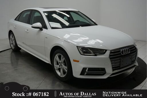2018_Audi_A4_2.0T CAM,SUNROOF,HTD STS,KEY-GO,17IN WHLS_ Plano TX