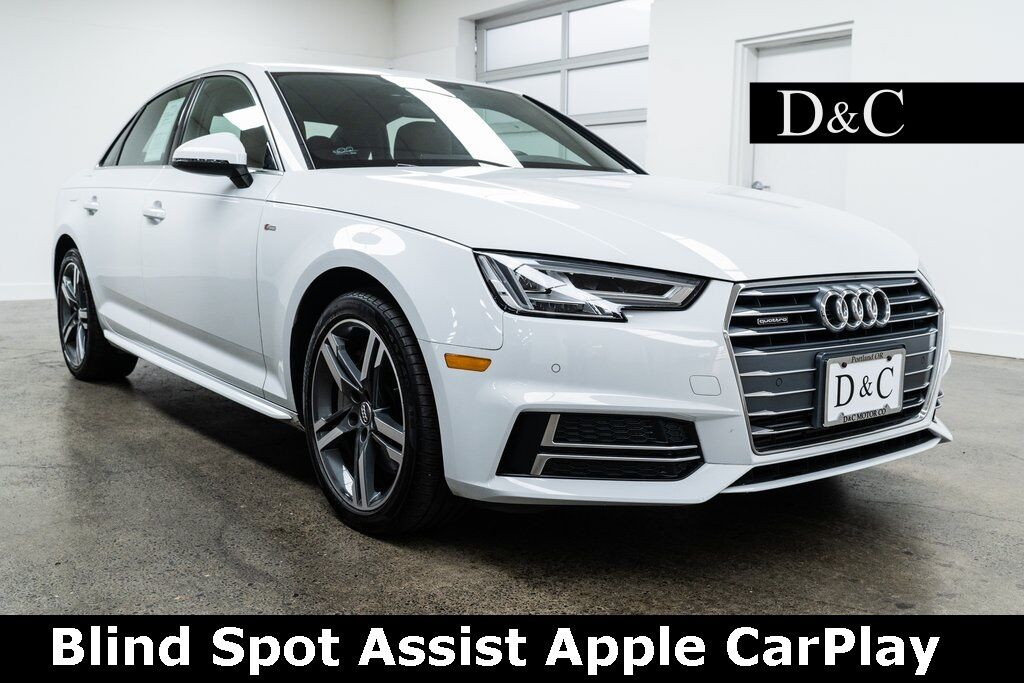 2018 Audi A4 2.0T Premium Plus quattro Blind Spot Assist Apple CarPlay Portland OR