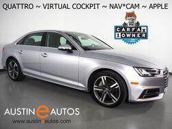 2018_Audi_A4 2.0T Quattro Premium Plus_*VIRTUAL COCKPIT, NAVIGATION, SIDE ASSIST, BACKUP-CAMERA, BANG & OLUFSEN, MOONROOF, LEATHER, HEATED SEATS, ADVANCED KEY, APPLE CARPLAY_ Round Rock TX