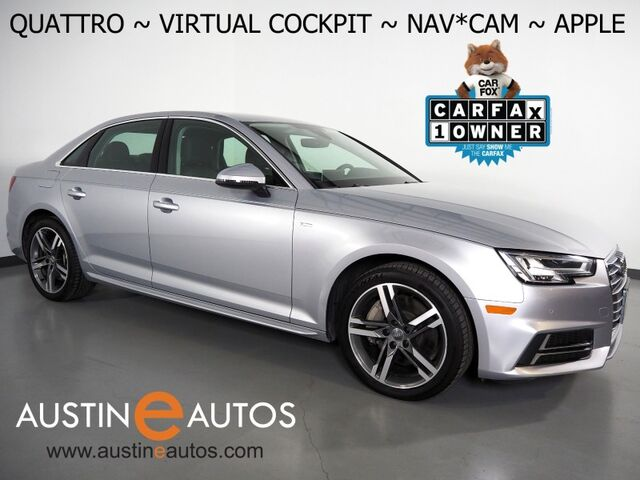2018 Audi A4 2.0T Quattro Premium Plus *VIRTUAL COCKPIT, NAVIGATION, SIDE ASSIST, BACKUP-CAMERA, BANG & OLUFSEN, MOONROOF, LEATHER, HEATED SEATS, ADVANCED KEY, APPLE CARPLAY Round Rock TX