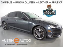 2018_Audi_A4 2.0T Ultra Premium Plus_*BLIND SPOT ALERT, BACKUP-CAMERA, BANG & OLUFSEN, MOONROOF, LEATHER, HEATED SEATS, ADVANCED KEY, BLUETOOTH PHONE & AUDIO, APPLE CARPLAY_ Round Rock TX