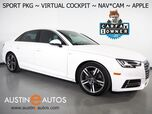 2018 Audi A4 2.0T Ultra Premium Plus *SPORT PKG, VIRTUAL COCKPIT, NAVIGATION, SIDE ASSIST, BACKUP-CAMERA, BANG & OLUFSEN, MOONROOF, LEATHER, HEATED SEATS/STEERING WHEEL, ADVANCED KEY, APPLE CARPLAY