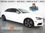 2018 Audi A4 2.0T Ultra Premium Plus *VIRTUAL COCKPIT, NAVIGATION, SIDE ASSIST, BACKUP-CAMERA, BANG & OLUFSEN, MOONROOF, LEATHER, HEATED SEATS, ADVANCED KEY, BLUETOOTH, APPLE CARPLAY