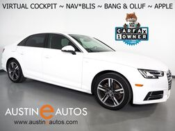 2018_Audi_A4 2.0T Ultra Premium Plus_*VIRTUAL COCKPIT, NAVIGATION, SIDE ASSIST, BACKUP-CAMERA, BANG & OLUFSEN, MOONROOF, LEATHER, HEATED SEATS, ADVANCED KEY, BLUETOOTH, APPLE CARPLAY_ Round Rock TX