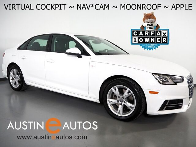 2018 Audi A4 2.0T Ultra Tech Premium *VIRTUAL COCKPIT, NAVIGATION, BACKUP-CAMERA, S LINE STYLING, MOONROOF, LEATHER, HEATED SEATS, ADVANCED KEY, LED HEADLIGHTS, APPLE CARPLAY Round Rock TX