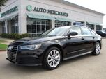 2018 Audi A6 2.0T Premium quattro LEATHER, NAVIGATION, SUNROOF, BACKUP CAMERA, HTD FRONT STS, PADDLE SHIFTERS