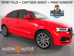 2018_Audi_Q3 2.0T Premium Plus_*SPORT PLUS PKG, SIDE ASSIST, BACKUP-CAMERA, PANORAMA MOONROOF, LEATHER, HEATED SEATS, BOSE AUDIO, ADVANCED KEY, 19 INCH WHEELS, BLUETOOTH PHONE & AUDIO_ Round Rock TX