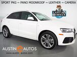 2018 Audi Q3 2.0T Premium *SPORT PACKAGE, PANORAMA MOONROOF, BACKUP-CAMERA, LEATHER, HEATED SEATS, POWER TAILGATE, ADVANCED KEY, SATELLITE RADIO, BLUETOOTH PHONE & AUDIO
