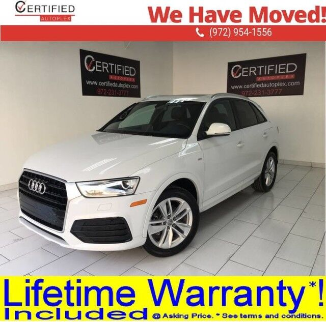 2018 Audi Q3 PREMIUM PANORAMIC ROOF REAR CAMERA PARK ASSIST HEATED LEATHER SEATS DUAL PO Dallas TX