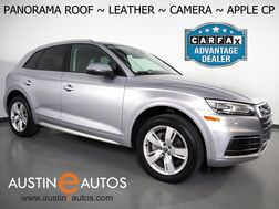 2018_Audi_Q5 2.0T Quattro Premium_*BACKUP-CAMERA, PANORAMA MOONROOF, LEATHER, HEATED SEATS, ADVANCED KEY, POWER LIFTGATE, XENON LIGHTS, 19 INCH WHEELS, APPLE CARPLAY_ Round Rock TX