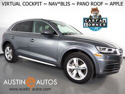 2018_Audi_Q5 2.0T Quattro Premium Plus_*VIRTUAL COCKPIT, NAVIGATION, SIDE ASSIST, PRE-SENSE, BACKUP-CAMERA, PANORAMA MOONROOF, LEATHER, HEATED SEATS/STEERING WHEEL, 19 INCH WHEELS, APPLE CARPLAY_ Round Rock TX