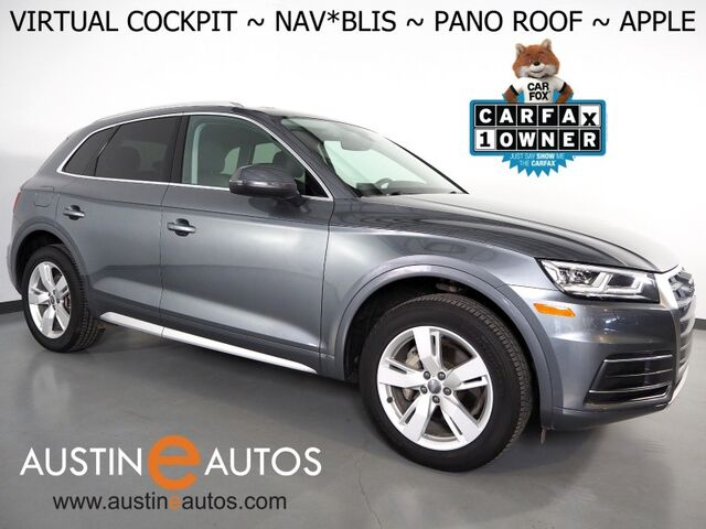 2018 Audi Q5 2.0T Quattro Premium Plus *VIRTUAL COCKPIT, NAVIGATION, SIDE ASSIST, PRE-SENSE, BACKUP-CAMERA, PANORAMA MOONROOF, LEATHER, HEATED SEATS/STEERING WHEEL, 19 INCH WHEELS, APPLE CARPLAY Round Rock TX