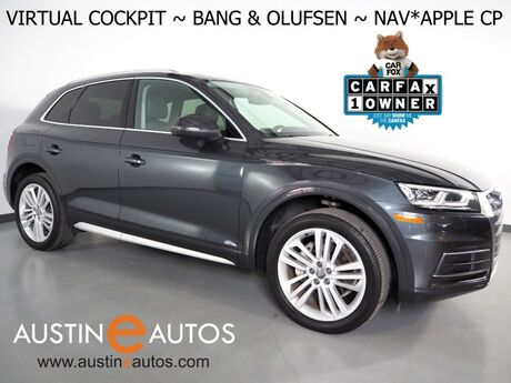 2018 Audi Q5 2.0T Quattro Premium Plus *VIRTUAL COCKPIT, NAVIGATION, SIDE ASSIST, PRE-SENSE, BACKUP-CAMERA, PANORAMA MOONROOF, LEATHER, HEATED SEATS/STEERING WHEEL, BANG & OLUFSEN, 20 INCH WHEELS, APPLE CARPLAY Round Rock TX