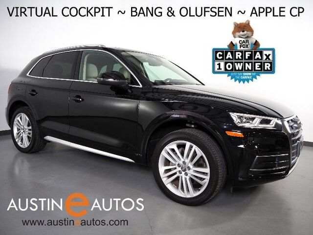 2018 Audi Q5 2.0T Quattro Premium Plus *VIRTUAL COCKPIT, NAVIGATION, SIDE ASSIST, PRE-SENSE, BACKUP-CAMERA, PANORAMA MOONROOF, LEATHER, HEATED STEERING WHEEL, BANG & OLUFSEN, 20 INCH WHEELS, APPLE CARPLAY Round Rock TX