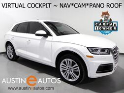 2018_Audi_Q5 Quattro 2.0T Premium Plus_*VIRTUAL COCKPIT, NAVIGATION, SIDE ASSIST, BACKUP-CAM, PRE-SENSE, PANORAMA MOONROOF, HEATED & COOLED SEATS, 20 INCH WHEELS, LEATHER_ Round Rock TX