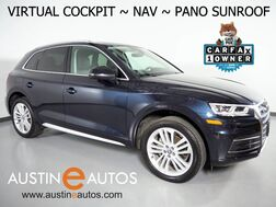 2018_Audi_Q5 Quattro 2.0T Tech Premium Plus_*VIRTUAL COCKPIT, NAVIGATION, SIDE ASSIST, BACKUP-CAM, PRE-SENSE, PANORAMA MOONROOF, HEATED & COOLED SEATS, 20 INCH WHEELS_ Round Rock TX