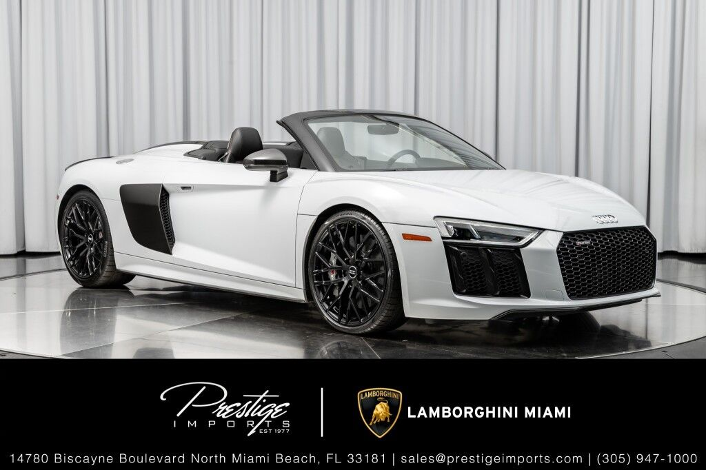 2018 Audi R8 Spyder V10 plus North Miami Beach FL