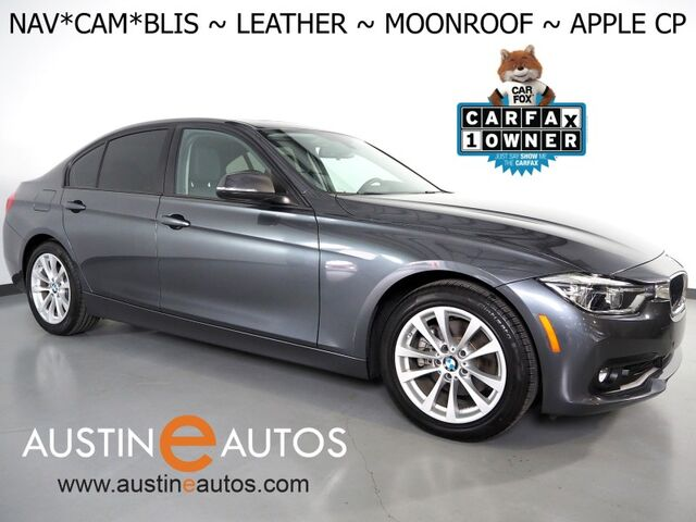 2018 BMW 3 Series 320i Sedan *NAVIGATION, BLIND SPOT ALERT, BACKUP-CAMERA, MOONROOF, DAKOTA LEATHER, HEATED SEATS, COMFORT ACCESS, BLUETOOTH, APPLE CARPLAY Round Rock TX