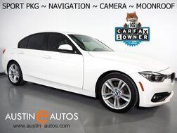2018_BMW_3 Series 320i Sedan_*SPORT PACKAGE, NAVIGATION, BACKUP-CAMERA, MOONROOF, HEATED SPORT SEATS, SPORT STEERING WHEEL, 18 INCH ALLOYS, BLUETOOTH PHONE & AUDIO_ Round Rock TX