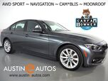 2018 BMW 3 Series 320i xDrive AWD *SPORT PACKAGE, NAVIGATION, BLIND SPOT ALERT, BACKUP-CAMERA, MOONROOF, HEATED SPORT SEATS, HEATED SPORT STEERING WHEEL, 18 INCH ALLOYS, BLUETOOTH PHONE & AUDIO