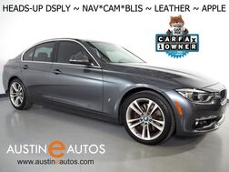2018_BMW_3 Series 330e iPerformance Plug-In Hybrid_*LUXURY LINE, HEADS-UP DISPLAY, NAVIGATION, BLIND SPOT ALERT, BACKUP-CAMERA, DAKOTA LEATHER, HEATED SEATS, MOONROOF, COMFORT ACCESS, APPLE CARPLAY_ Round Rock TX
