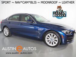 2018_BMW_3 Series 330e iPerformance Plug-In Hybrid_*SPORT LINE, NAVIGATION, BLIND SPOT ALERT, BACKUP-CAMERA, MOONROOF, LEATHER, HEATED SEATS/STEERING WHEEL, COMFORT ACCESS_ Round Rock TX