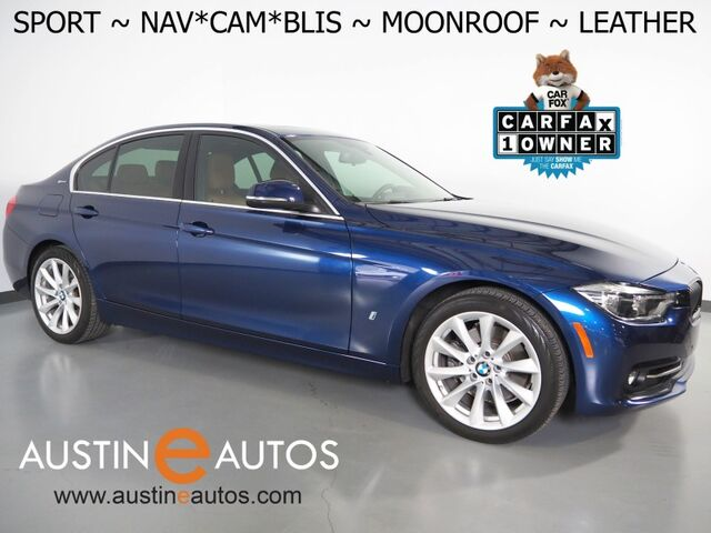2018 BMW 3 Series 330e iPerformance Plug-In Hybrid *SPORT LINE, NAVIGATION, BLIND SPOT ALERT, BACKUP-CAMERA, MOONROOF, LEATHER, HEATED SEATS/STEERING WHEEL, COMFORT ACCESS Round Rock TX