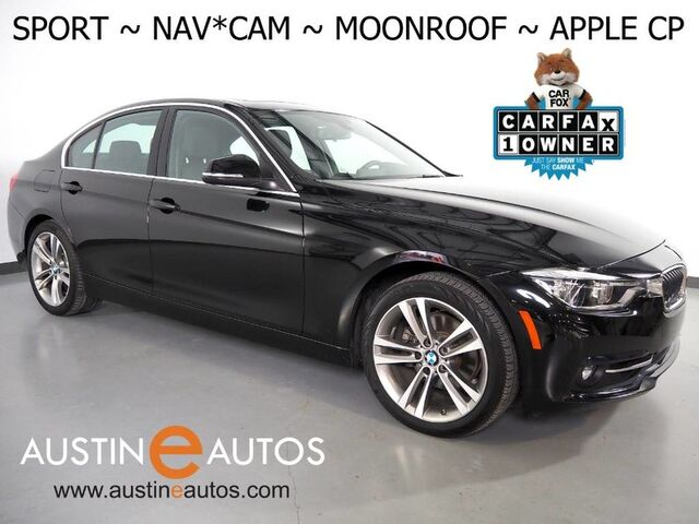 2018 BMW 3 Series 330i Sedan *SPORT LINE, NAVIGATION, BACKUP-CAMERA, MOONROOF, SPORT HEATED SEATS, COMFORT ACCESS, BLUETOOTH, APPLE CARPLAY Round Rock TX