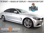 2018 BMW 4 Series 430i Gran Coupe *M SPORT PKG, HEADS-UP DISPLAY, NAVIGATION, BACKUP-CAMERA, MOONROOF, HEATED SEATS, ADAPTIVE M SUSPENSION, BLUETOOTH