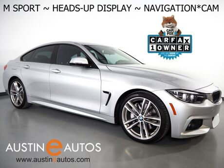 2018 BMW 4 Series 430i Gran Coupe *M SPORT PKG, HEADS-UP DISPLAY, NAVIGATION, BACKUP-CAMERA, MOONROOF, HEATED SEATS, ADAPTIVE M SUSPENSION, BLUETOOTH Round Rock TX