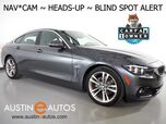 2018 BMW 4 Series 430i Gran Coupe *SPORT, HEADS-UP DISPLAY, NAVIGATION, BLIND SPOT ALERT, BACKUP-CAMERA, MOONROOF, LEATHER, HEATED SEATS, COMFORT ACCESS, APPLE CARPLAY