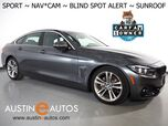 2018 BMW 4 Series 430i Gran Coupe *SPORT LINE, NAVIGATION, BLIND SPOT ALERT, BACKUP-CAMERA, MOONROOF, SPORT HEATED SEATS, COMFORT ACCESS, BLUETOOTH PHONE & AUDIO