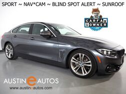 2018_BMW_4 Series 430i Gran Coupe_*SPORT LINE, NAVIGATION, BLIND SPOT ALERT, BACKUP-CAMERA, MOONROOF, SPORT HEATED SEATS, COMFORT ACCESS, BLUETOOTH PHONE & AUDIO_ Round Rock TX