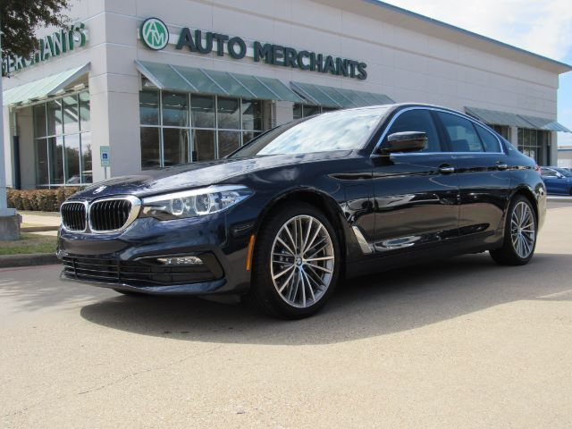 2018 BMW 5-Series 530e iPERFORMANCE, SPORT LINE, SUN/MOONROOF, BLIND SPORT MONITOR, LANE DEPARTURE WARNING, NAVIGATION Plano TX